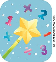 Math Magic Wand Numbers
