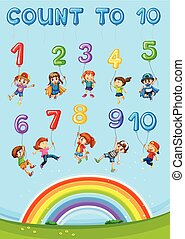Math number counting chapter illustration