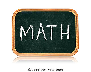 math on blackboard banner