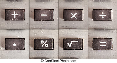 Math Operations - Set of basic math operations, buttons from...