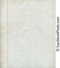 Math paper square background - Closeup.