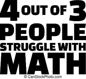 math., persone, quote., tre, quattro, lotta, fuori