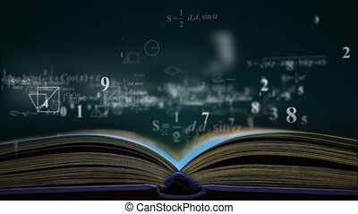 math physics formulas from book. computer generated loopable...