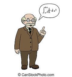 math professor - this is an illustration of math professor