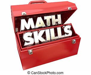 Math Skills Learn Education Study Tutoring Red Metal Toolbox...