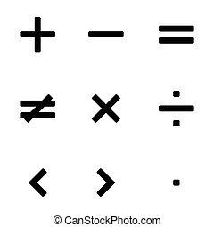 Math symbols vector