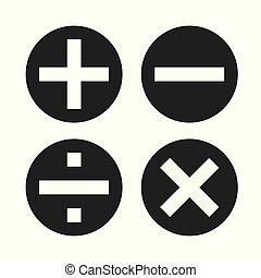 Math symbols vector?and Math icons