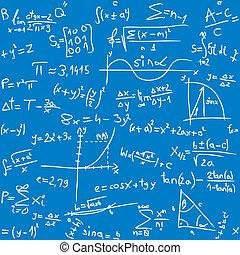 Math table - Repeatable seamless math pattern