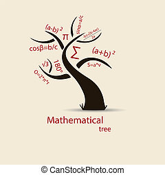 Math tree sketch for your design. Vector. Illustration.