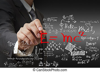 mathe, und, wissenschaft, formel