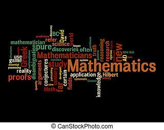 mathematic, nuvens, texto