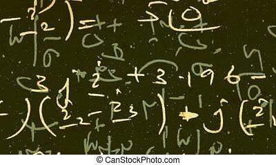 Mathematical background animation