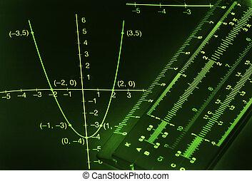 Mathematical background - Abstract dark mathematical...
