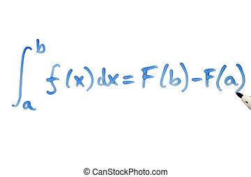 Mathematical equation - Writing a mathematical equation on a...