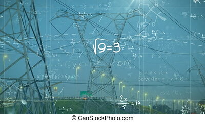 Mathematical equations against transmission towers - ...