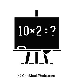 Mathematical example black icon, concept illustration, vector flat symbol, glyph sign.