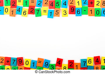 Mathematical frame with color numbers