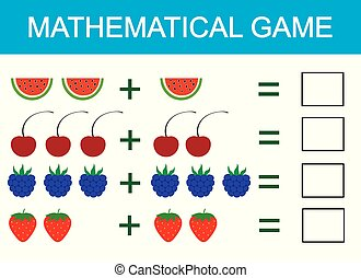 Mathematics worksheet. educational game for children ...