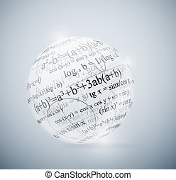 Mathematical sphere - Glass sphere with mathematical...