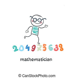 mathematician runs on figures