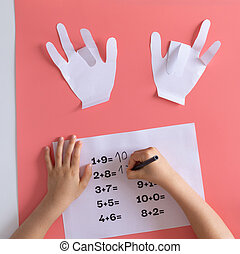 mathematics activity for kids at home, games for children, math training, paper craft for kids learning math