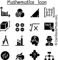 Mathematics icon set