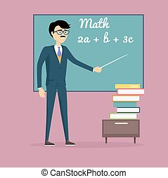 Mathematics Learning Concept Illustration.