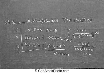 Mathematics on blackboard