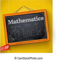 Mathematics On Chalkboard