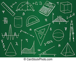 Mathematics - school supplies, geometric shapes and ...