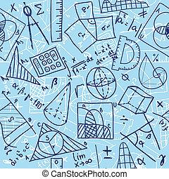 Mathematics seamless pattern - Seamless pattern background -...