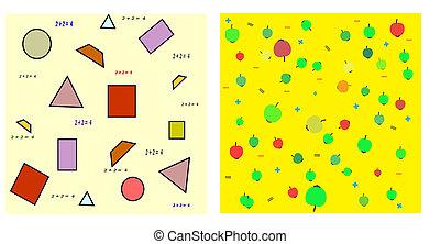 mathematics. Seamless vector