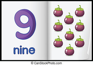 Mathematics sheet - Counting number illustration sheet in...