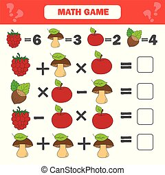 Mathematics worksheet for kids. Count educational children activity