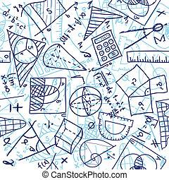mathematik, seamless, muster
