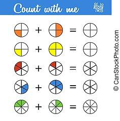 mathematisch, erzieherisch, spiel, children., zählen, vorschulisch