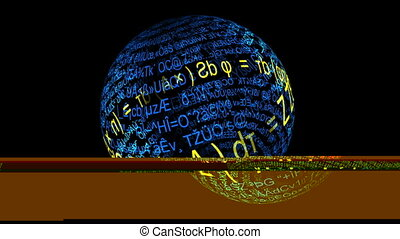 mathematisch,  formulary, Abdrücke, kugelförmig