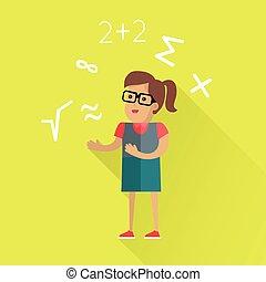 mathematisch, wohnung, begriff, berechnungen, design.