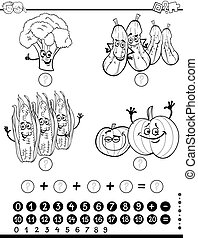 maths activity worksheet for coloring - Black and White...