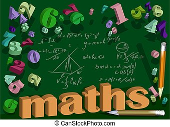 maths background with number