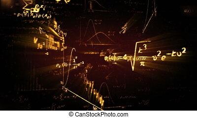maths, formules, physique, boucle, briller