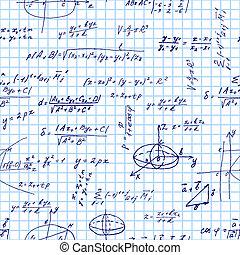 maths, seamless, modèle