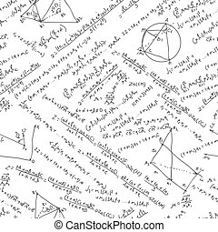 Maths seamless pattern. And also includes EPS 8 vector