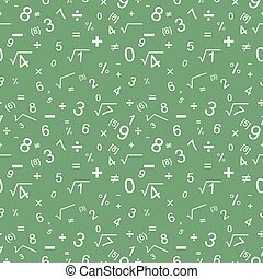 Vector seamless pattern design based on maths theme.