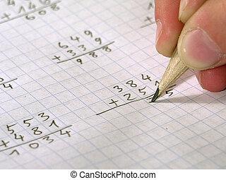 Maths - Child doing its homework