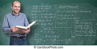 Maths teacher - Friendly maths teacher by the blackboard