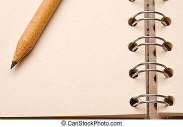 matita, blocco note