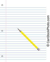 matita, carta, quaderno
