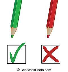 matita, contrassegni