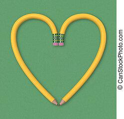matita, cuore
